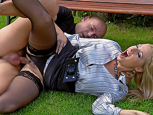 A bald dude enjoys pissing on her hot willing face hardcore