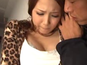 Ayaka Tomoda Gets A Serious Gangbang From Three Horny Guys
