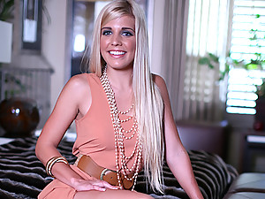 Elegant Blonde Carmen Enjoys Sensual Sex